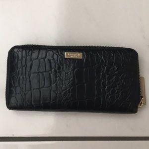 Black Kate Spade leather wallet